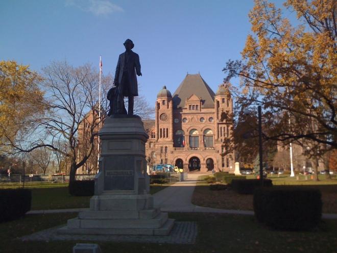 Ontario Provincial Parliament, Queens Park, Toronto